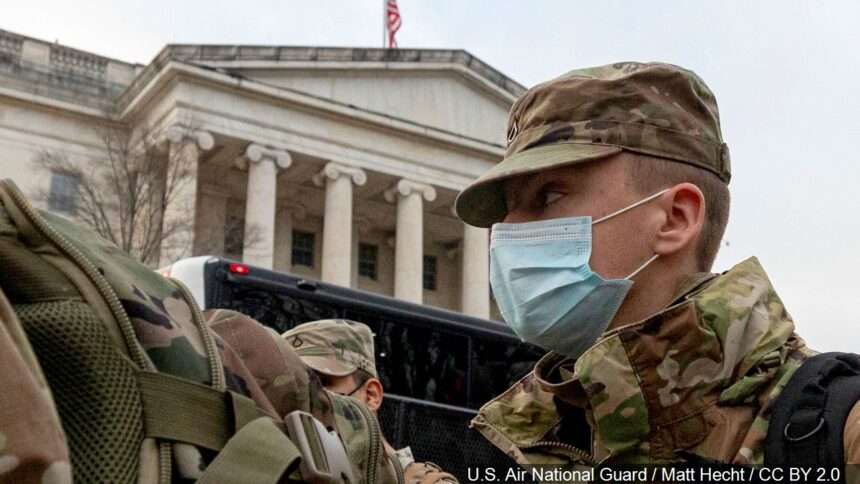 National Guard Soldiers and Airmen from several states have traveled to Washington to provide support to federal and district authorities logo_