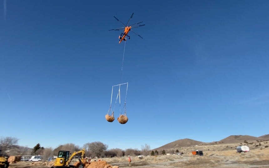 Bureau of Land Management applies mulch over 128 acres in Pocatello, ID