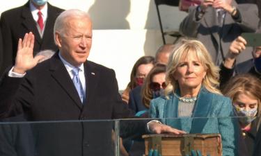 President Joe Biden taking oath of office on Jan. 20