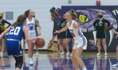 #20 Taylor Smith guards defender in Century's 55-51 win