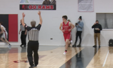 #22 Taden King makes 3 in Madison's 53-49 win over Highland
