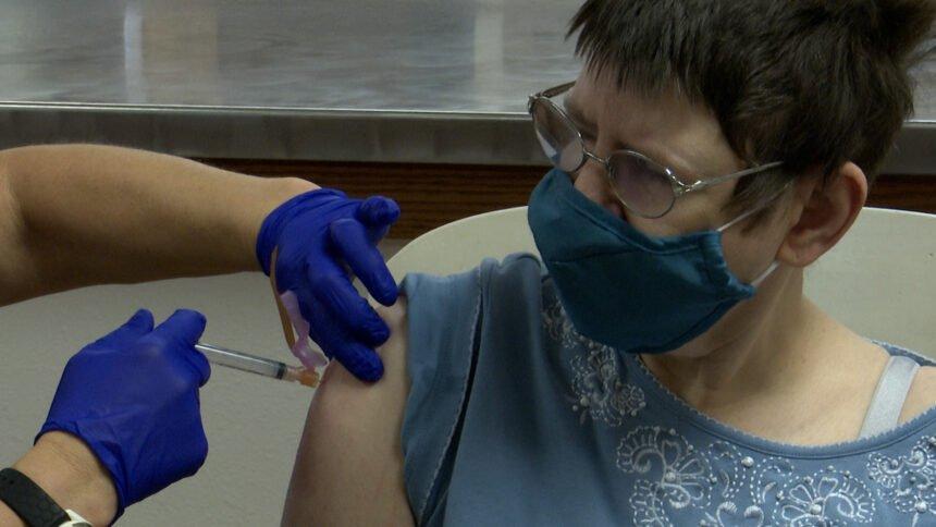 pocatello senior gets first dose of modern covid vaccine