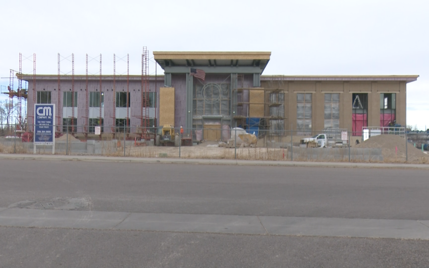 Construction site of new City Hall building in Chubbuck, ID