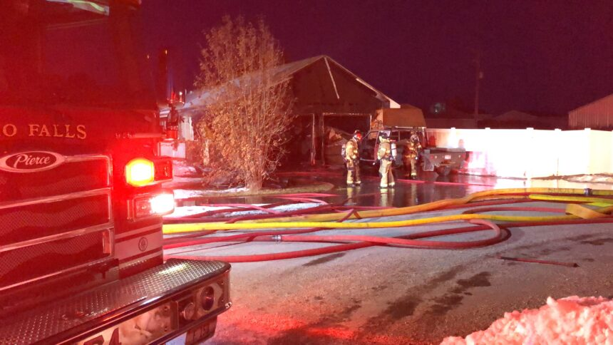Juvenile hospitalized with minor injuries after garage fire3
