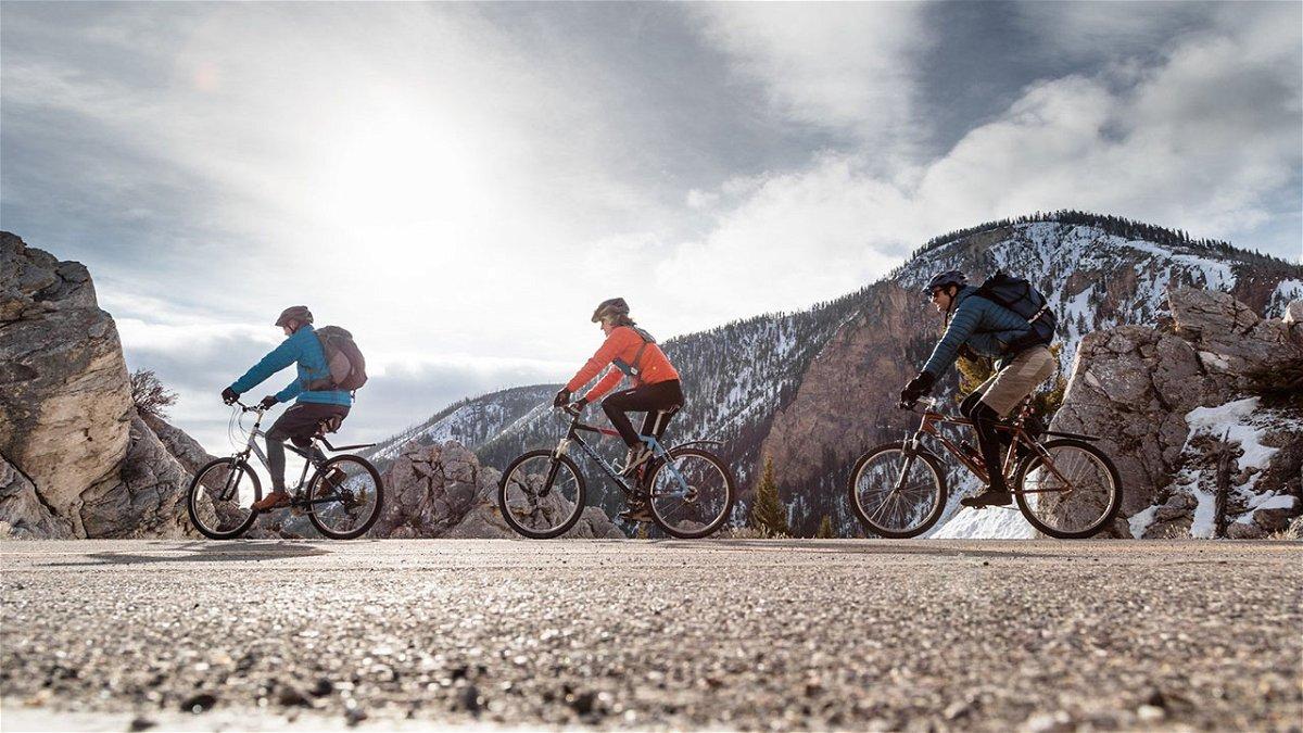 Spring biking with bear spray in The Hoodoos