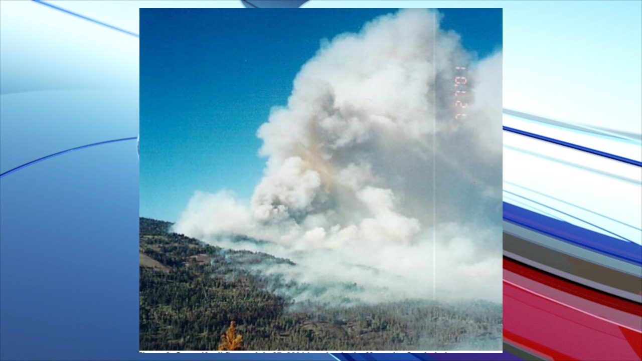 Green Knoll fire on July 27, 2001 burning in the Mosquito Creek drainage is one of the target areas