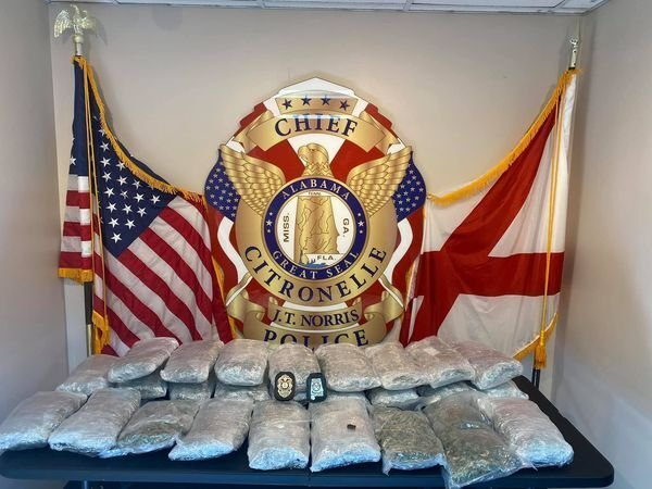 Police in Citronelle seized 40 pounds of high-grade marijuana in bust Monday afternoon.