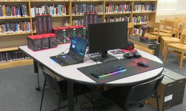 New computer setup at Blackfoot High School