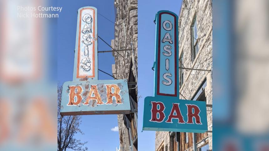 oasis bar sign