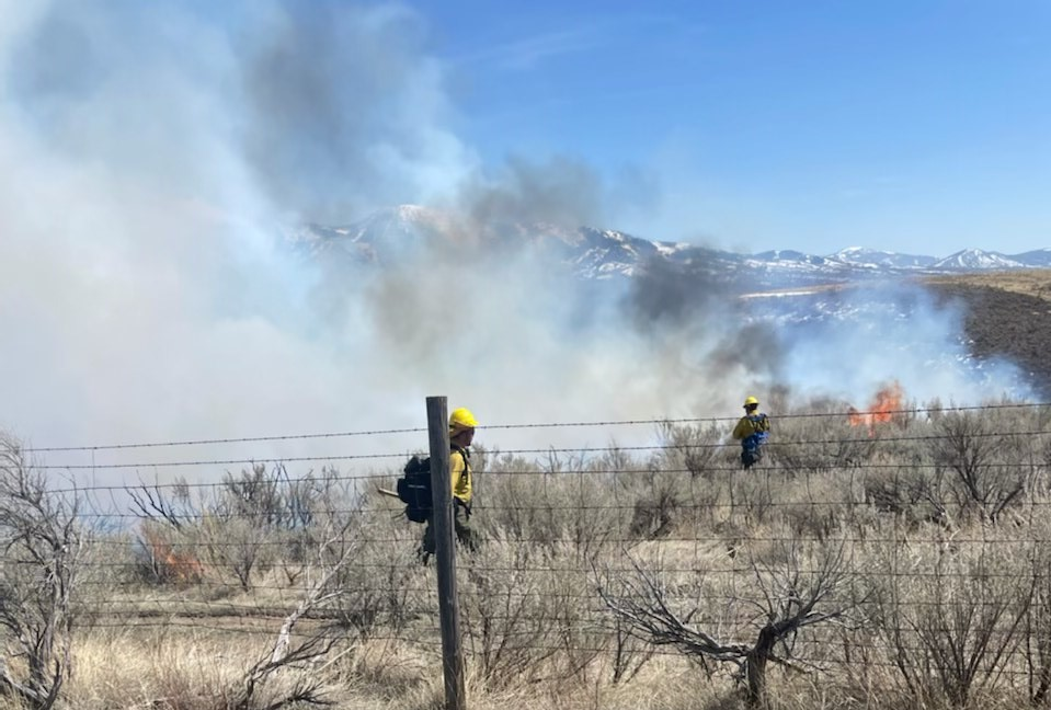 What started as a controlled burn quickly got out of control in the vicinity of Indian Creek Road and quickly spread uphill to the northwest, potentially threatening two homes.