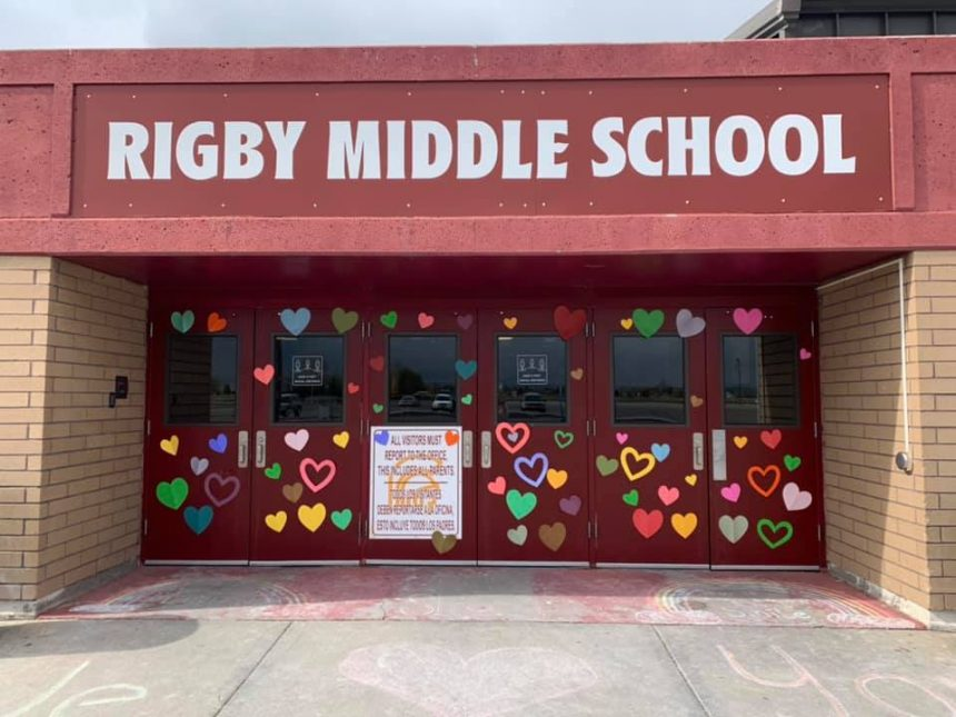 3Signs of support are all over Rigby Middle School. Students will see them as they return to class tomorrow morning for the first time since the shooting.