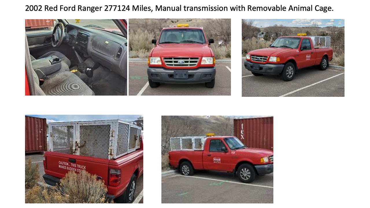 2002 Red Ford Ranger 277,124 Miles, Manual transmission with Removable Animal Cage