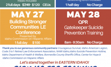 Mental health training flyer