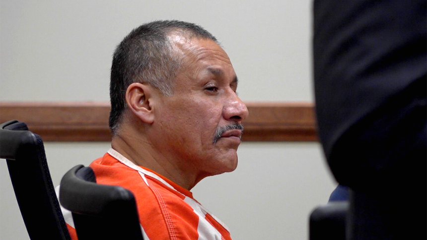 Man accused in a 1995 murder case, Gilberto Rodriguez listens during his preliminary hearing Friday in a Cassia County Courtroom.(KMVT)