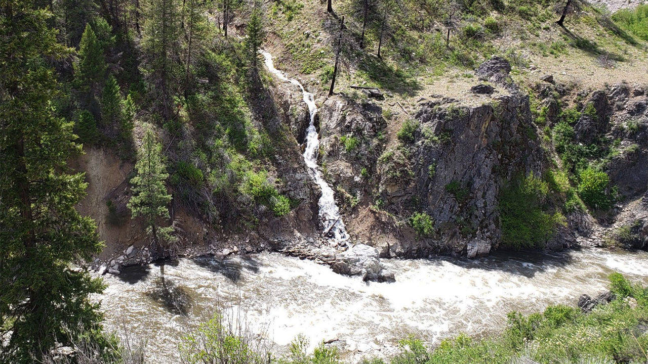 Little Hole in the Wall Creek along the South Fork of the Payette River.
