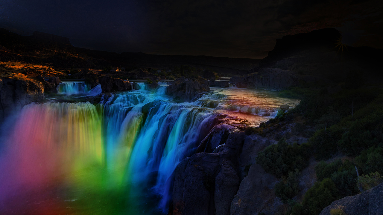 As this rendering demonstrates, Southern Idaho Tourism, Idaho Central Credit Union, and the City of Twin Falls will illuminate Shoshone Falls after dark during May in a manner similar to the lighting at Niagara Falls.