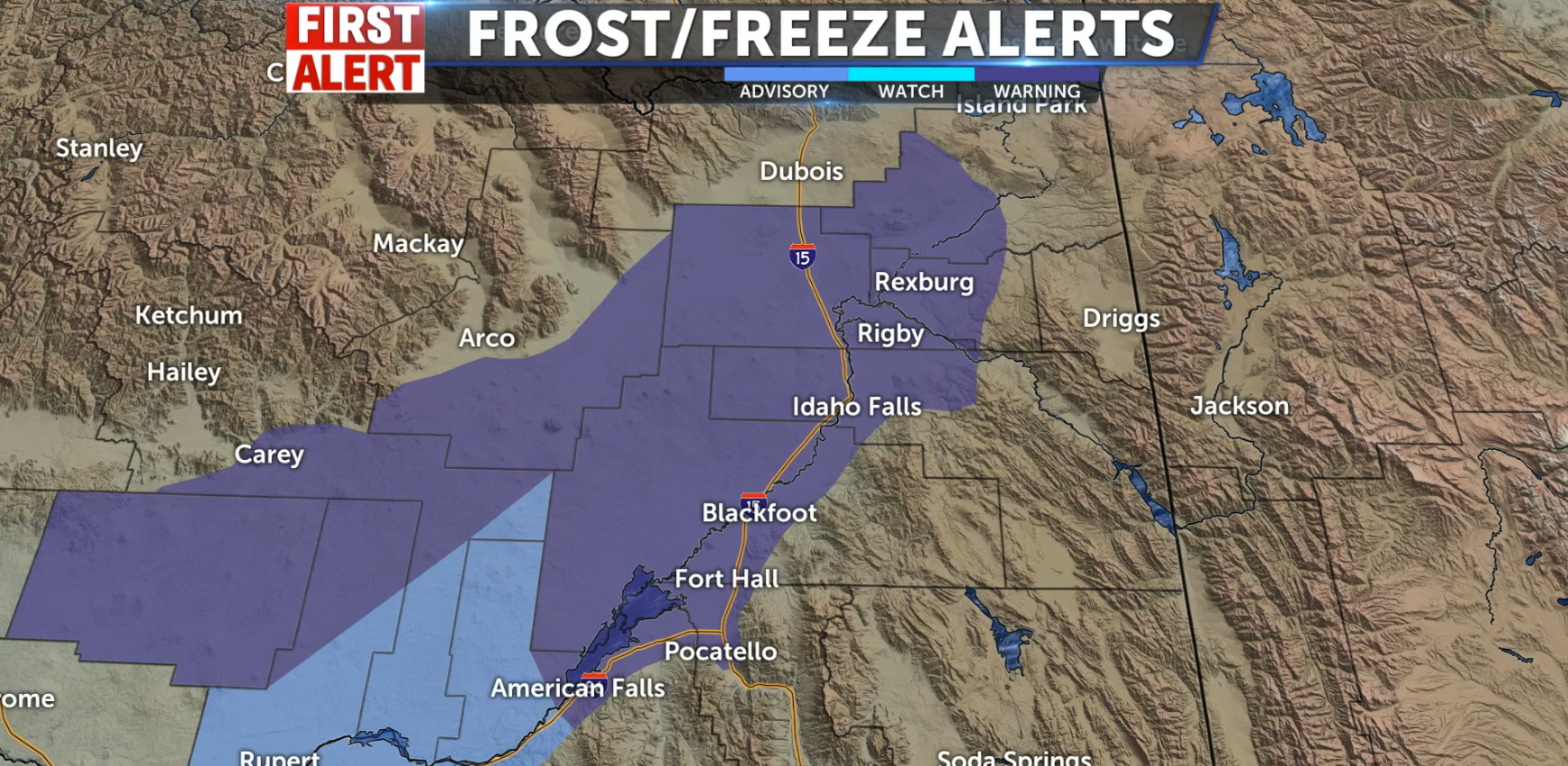 Freeze Warning for the Snake River Plain - Local News 8