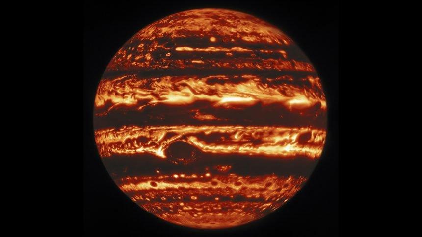 Gemini North Infrared View of Jupiter