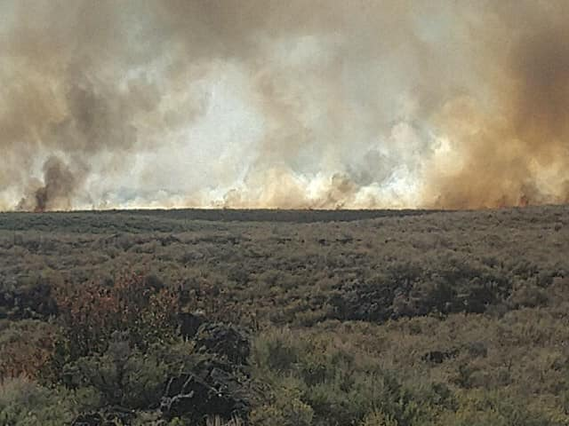 Fire burns north of St. Anthony June 211
