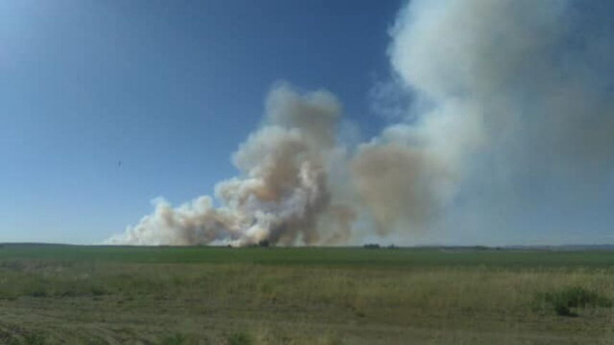 Fire burns north of St. Anthony June 212