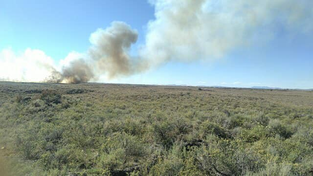 Fire burns north of St. Anthony June 213