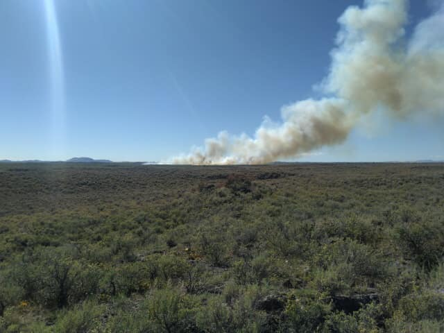 Fire burns north of St. Anthony June 214
