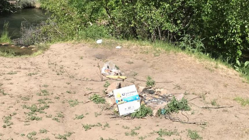 Problems continue at East Fork of Rock Creek in Power County_trash
