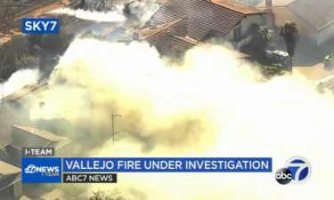 A grass fire that damaged eight homes and forced dozens to evacuate in Vallejo