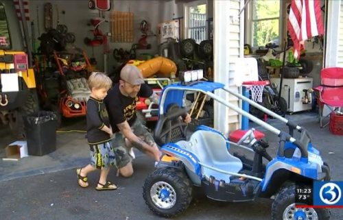 4-year-old Chase Mason and his dad