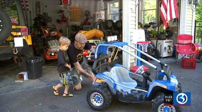 <i>WFSB</i><br/>4-year-old Chase Mason and his dad