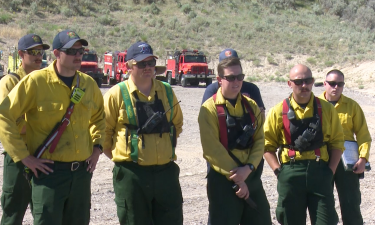 Local firefighters participate in fire front training