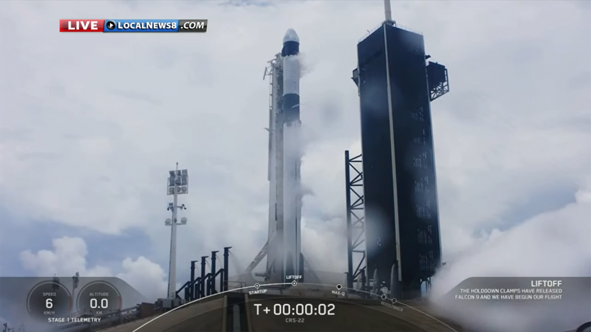 SpaceX CRS-22 Commercial Cargo Mission:Falcon 9 Launch-1