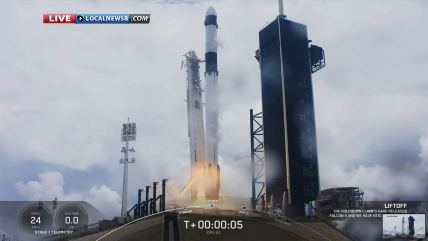 SpaceX CRS-22 Commercial Cargo Mission:Falcon 9 Launch-2
