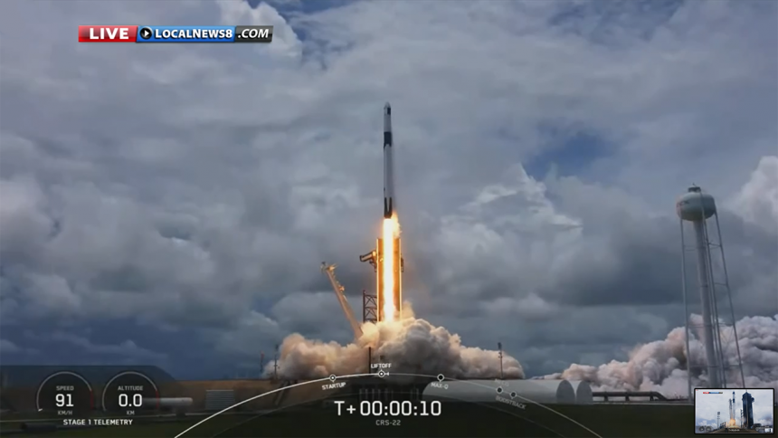 SpaceX CRS-22 Commercial Cargo Mission:Falcon 9 Launch-3