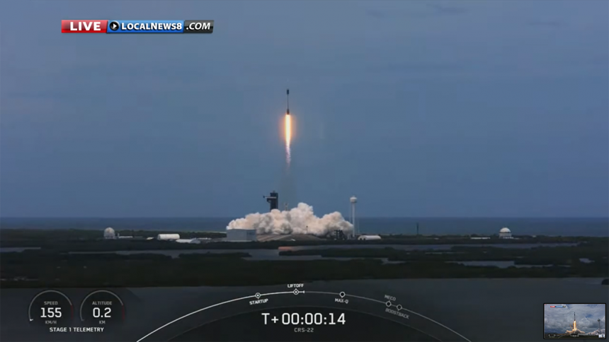 SpaceX CRS-22 Commercial Cargo Mission:Falcon 9 Launch-4