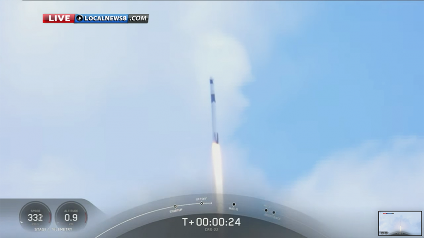 SpaceX CRS-22 Commercial Cargo Mission:Falcon 9 Launch-5