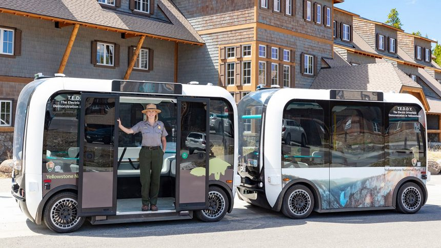Yellowstone National Park unveils automated electric cars1
