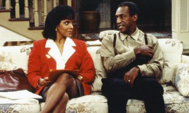 """Phylicia Rashad and Bill Cosby on """"The Cosby Show."""" Rashad posted a tweet celebrating Wednesday's ruling overturning Cosby's conviction."""