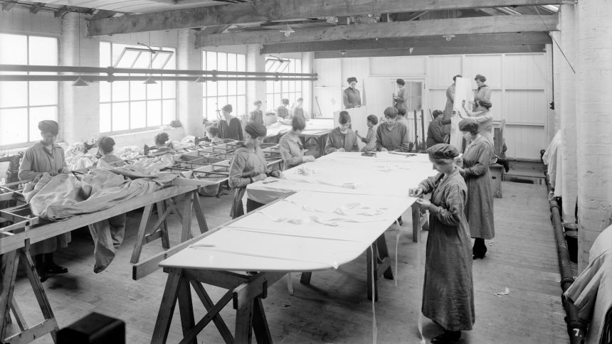 Trollope & Colls Ltd, Pleasant Works, Liverpool, Merseyside, 1918. Artist: Bedford Lemere and Company
