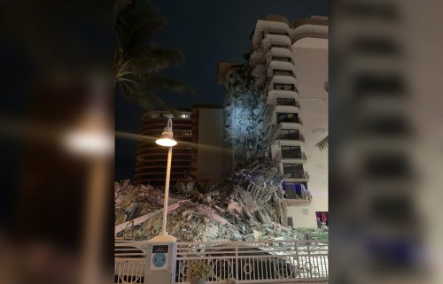 Approximately 55 apartment units were impacted by the partial buidling collapse in Surfside