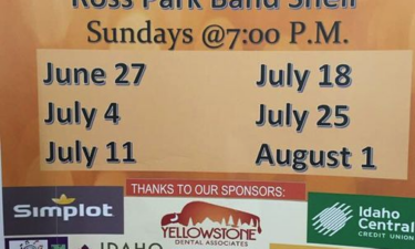 Ross Park Band Shell schedule