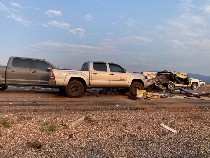 6Images of vehicles involved in Sunday's crash in Millard County. Right click to download full size images. Photo credit- Utah Highway Patrol