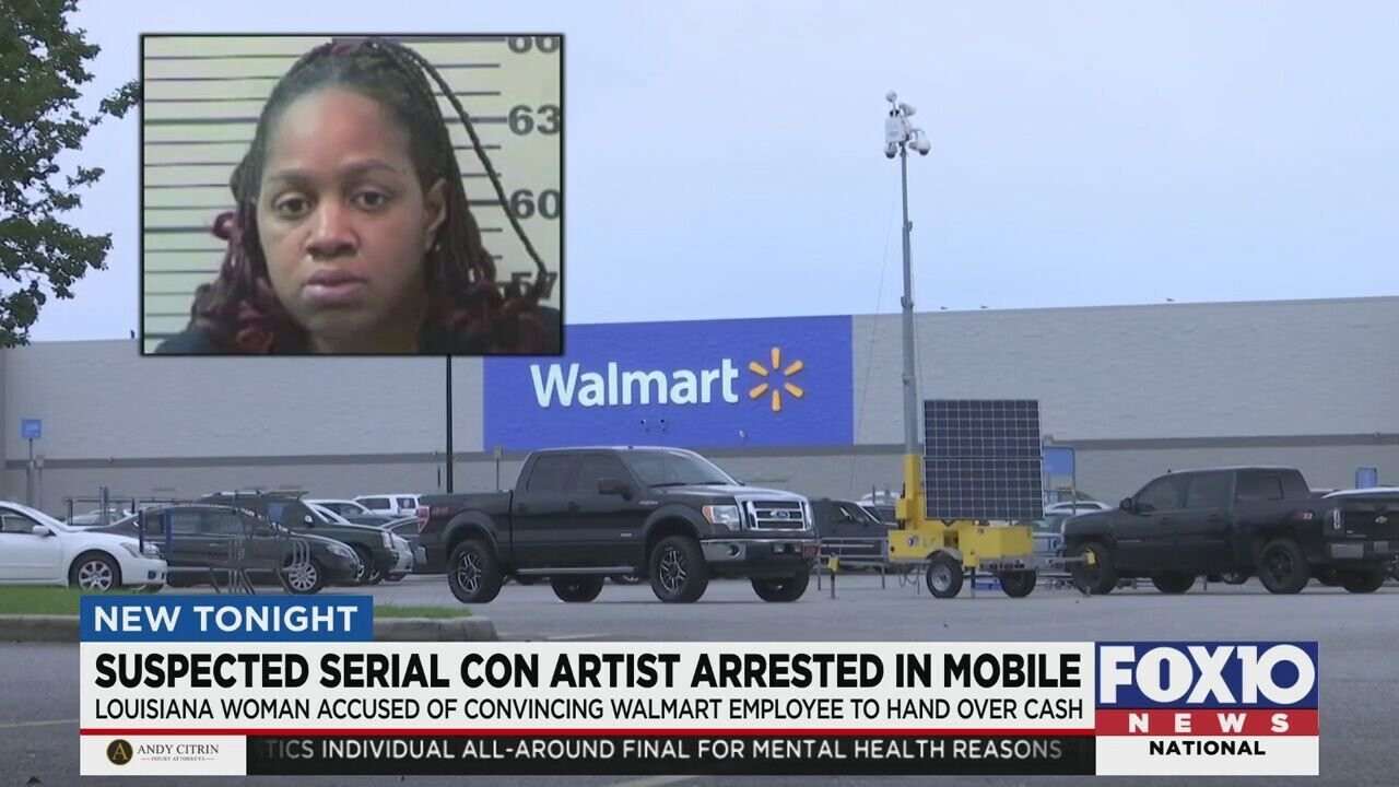 <i>WALA</i><br/>Jamie Brown is accused of pretending to be a Beltline Walmart manager and convincing a new employee to hand over a bunch of cash.