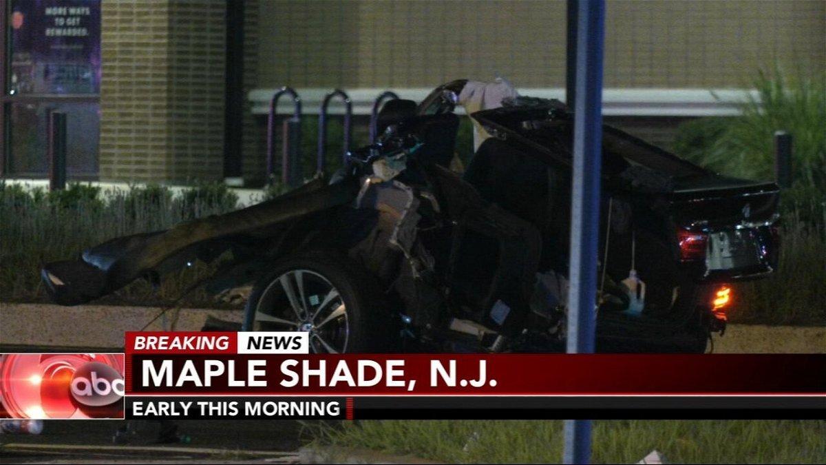 <i>WPVI</i><br/>A crash in South Jersey split a car in two.