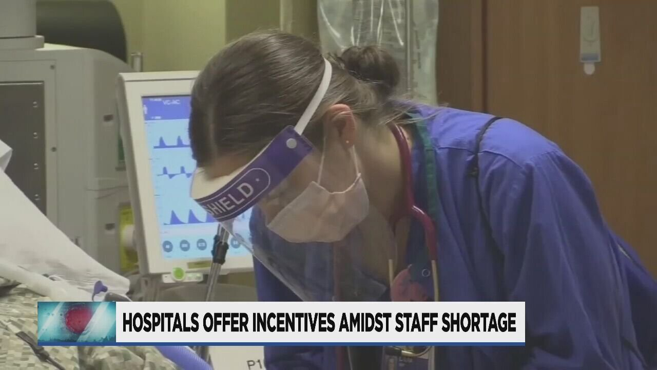 <i>KPTV</i><br/>Hospitals in Portland are offering thousands of dollars in bonuses and incentives to attract nurses amid a staffing shortage.