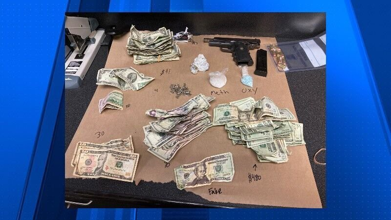 <i>Portland Police Bureau</i><br/>Portland police say a large amount of drugs and money were seized while officers were conducting a welfare check on a vehicle on Tuesday.