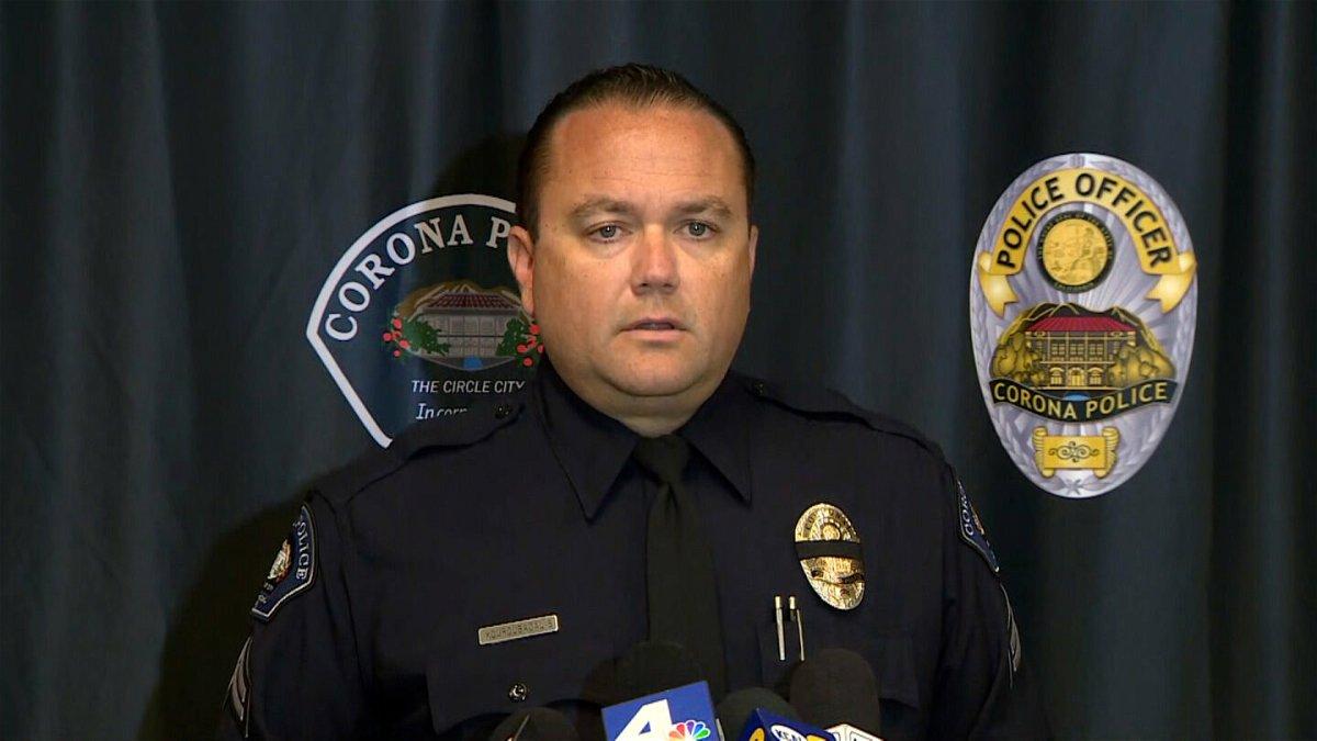 <i>KCAL/KCBS</i><br/>Corona Police Corporal Tobias Kouroubacalis