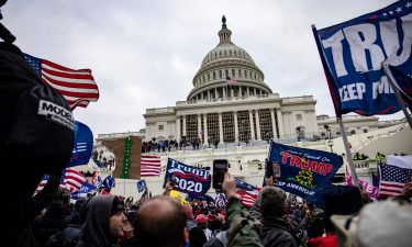 Pro-Trump supporters storm the U.S. Capitol following a rally with President Donald Trump on January 6 in Washington
