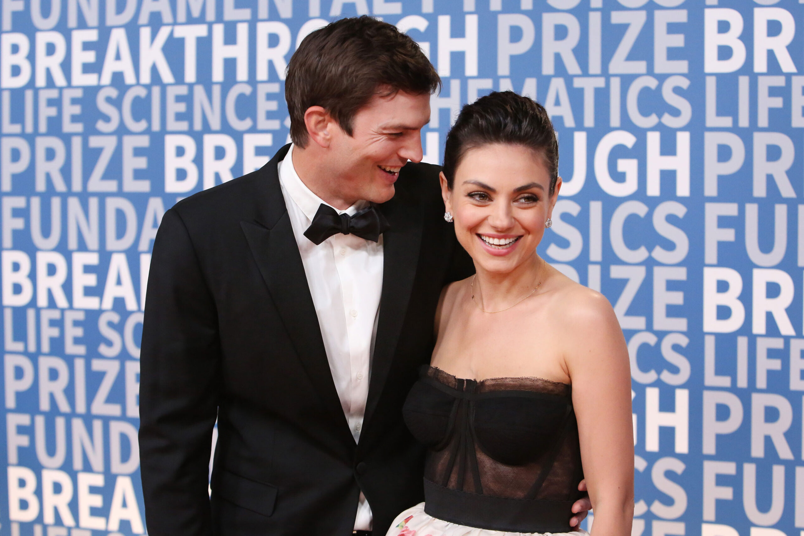 <i>Jesse Grant/Getty Images</i><br/>(From left) Ashton Kutcher and Mila Kunis said recently they do not bathe themselves or their kids too often.
