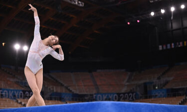 South Korea's Yunseo Lee competes during the Tokyo Olympic Games.